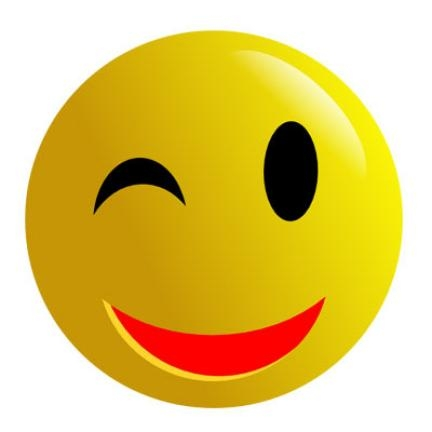 432x432 Happy Face Wink Clipart